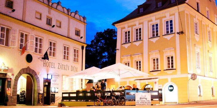 Pobyt pro dva v historickém centru Českých Budějovic: 2 noci se snídaní