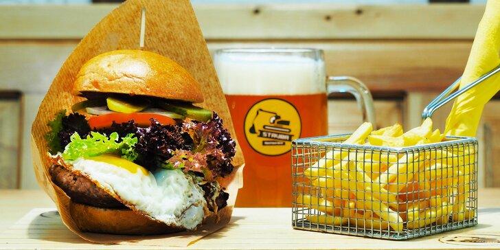 1, 2 nebo 4 burgery z 10 druhů: hovězí i vegetariánský