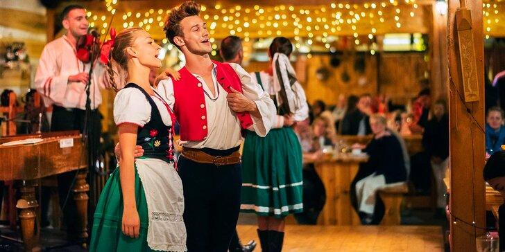 Jídlo a zábava: vstup na folklorní show i se 4chodovou večeří pro 1–4 osoby