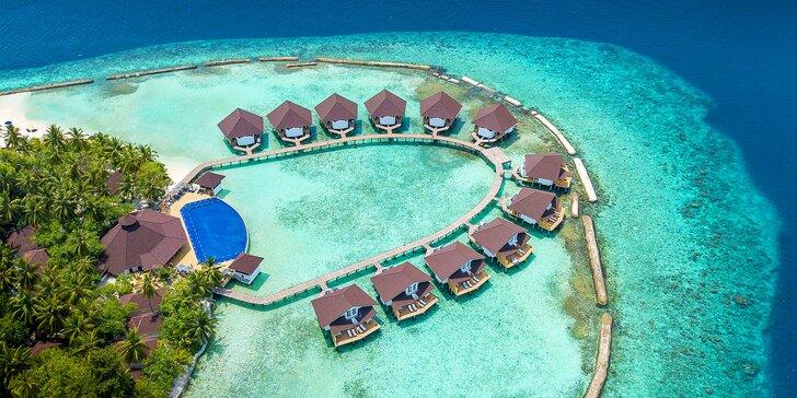 Exotická dovolená v 4* resortu na Maledivách: 6–12 nocí s all inclusive, bazén