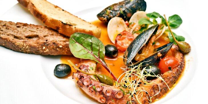 Otevřený voucher v hodnotě 500, 1000 či 1500 Kč do středomořské restaurace
