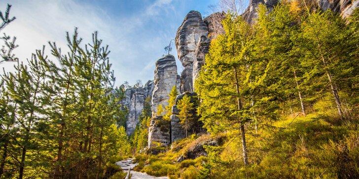 Oddech u Adršpašských skal. Romantické večeře, možnost grilování nebo vířivky na pokoji