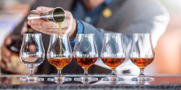 Ochutnejte to nejlepší z Karibiku: řízená degustace 5 druhů rumu pro 1 nebo pro 2