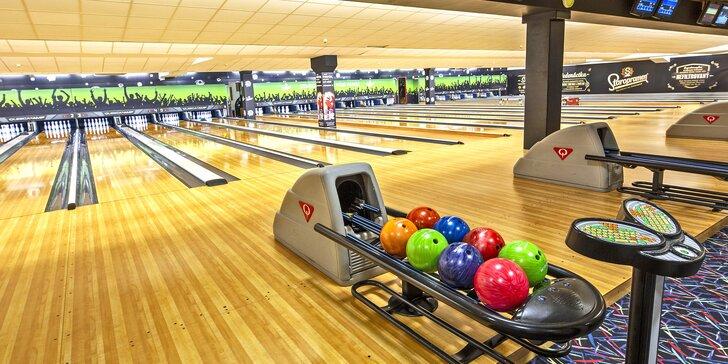 Zábava v BowlingZone: dráha na 60 či 120 minut až pro 8 hráčů a k tomu pizza nebo dvě