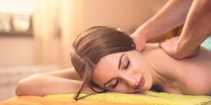 60 minut v nebi: uvolněte se během relaxační, medové, klasické i aroma masáže