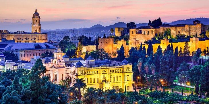 Letecky do Andalusie: 6 nocí se snídaní, koupání, návštěva Malagy a další program