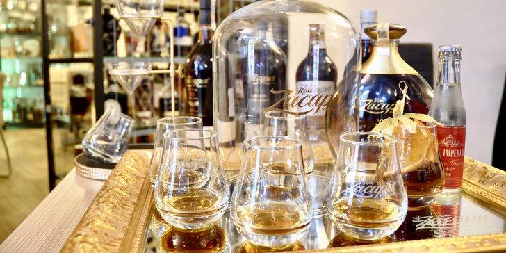 Guatemalská degustace Zacapa Specialist: míchaný drink a 5 profesionálně servírovaných rumů