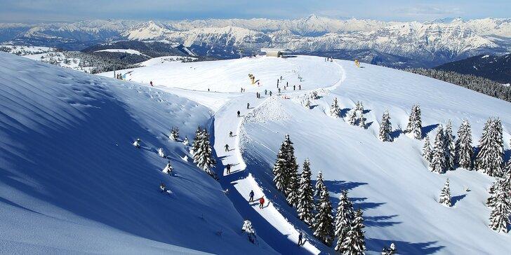 Vydejte se lyžovat do italských Alp: 2 noci v hotelu s polopenzí, 3 dny lyžování