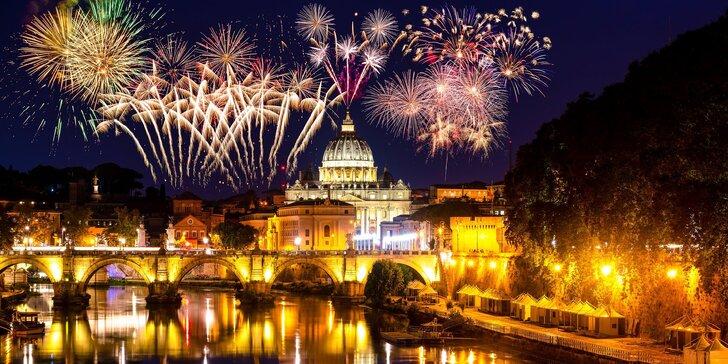 Silvestr v Římě: zájezd do Itálie s dopravou, ubytováním na 1 noc i návštěvou Vatikánu