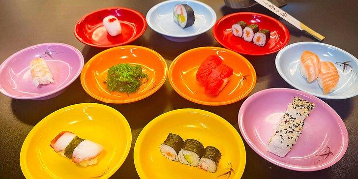 2,5 h neomezené konzumace v novém running sushi baru