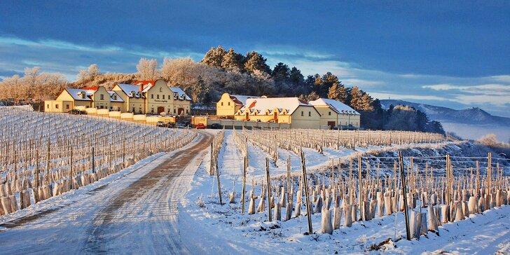Zimní relaxace ve Vinařství U Kapličky: polopenze, wellness a degustace vín