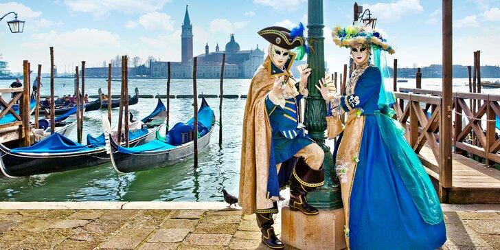 1 nebo 2 noci v Itálii: doprava, snídaně, karneval v Benátkách, Verona i Padova