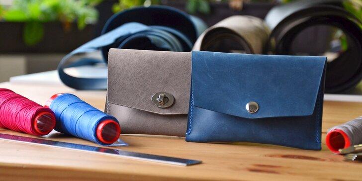 Kurz výroby z kůže: vlastnoručně vyrobený kožený pásek či dámské psaníčko
