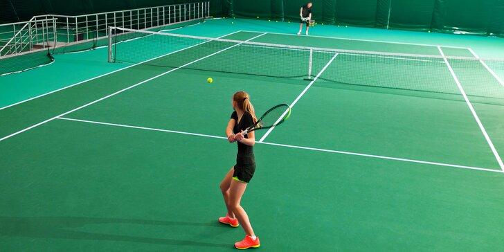 Tenisový sparing s bývalým profi hráčem Pohlem v Prostějově