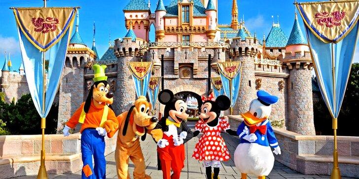 Jedinečný výlet do Disneylandu ve Francii s dokoupením celodenního vstupu