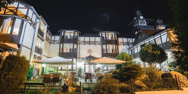 Odpočinek v klidné části Mariánských Lázní: zámecký hotel s wellness procedury a polopenze