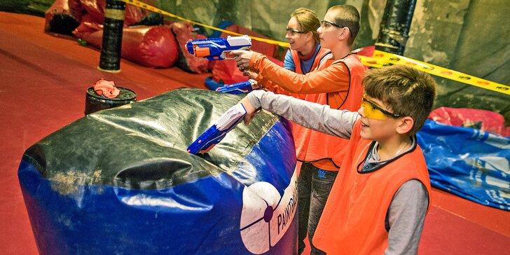 Nerf Arena: 1, 4 nebo 10 tréninků pro bojovníky a bojovnice do 15 let