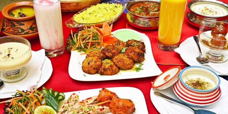 Indické speciality u Václaváku: otevřený voucher na jídlo v hodnotě 700 Kč