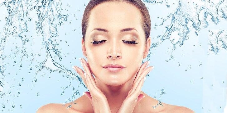 Kosmetické ošetření ultrazvukovou špachtlí se zapracováním kyseliny hyaluronové