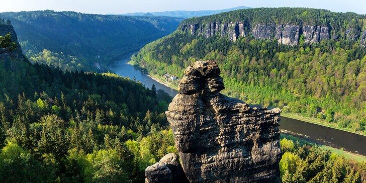 Pobyt v NP České Švýcarsko pro dva: polopenze, možnost lekcí cvičení a výlety