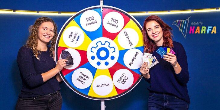 Navštivte stánek Slevomatu na Harfě: výměna benefitů za kredity, kolotoč štěstí i nákup dárkových karet