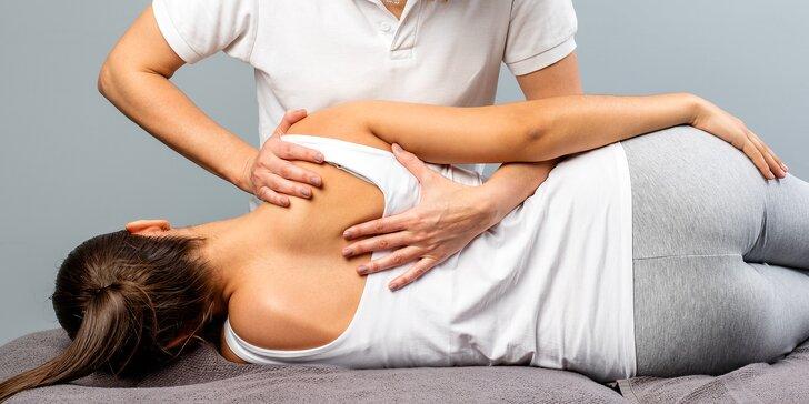 Rehabilitační masáž včetně nahřátí infračervenou lampou či reflexní masáž chodidel