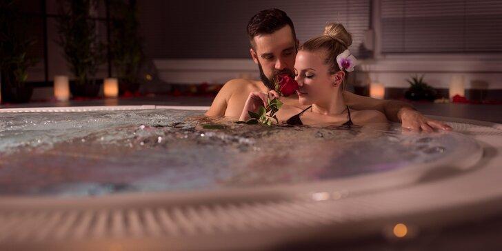 2 hodiny v soukromém wellness pro pár: vířivka, finská sauna i občerstvení