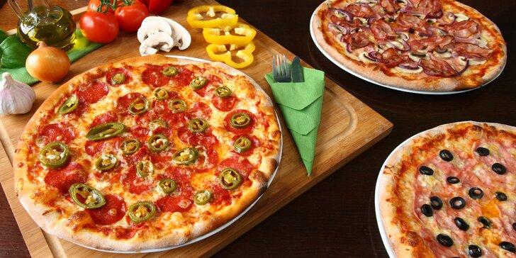 Pizza od Gustlíčka s rozvozem: výběr z 15 druhů o průměru 32 cm i XXL pizza