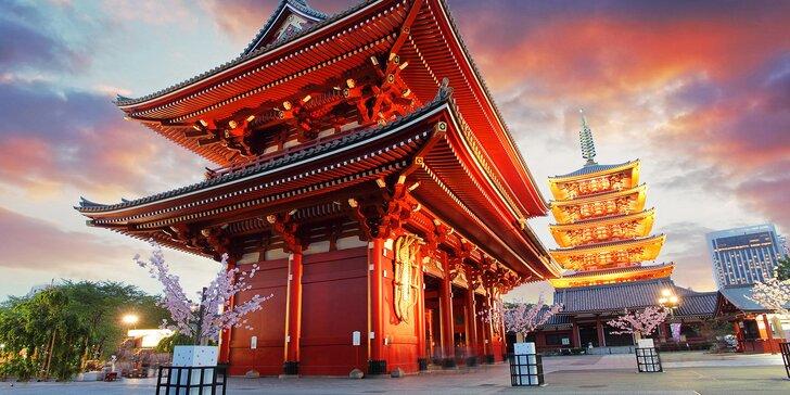 Záloha na 16denní letecký zájezd do Japonska s průvodci, ubytováním a skvělým programem