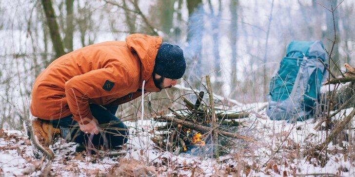 Zimní 2denní kurz přežití v přírodě s teoretickou i praktickou výukou