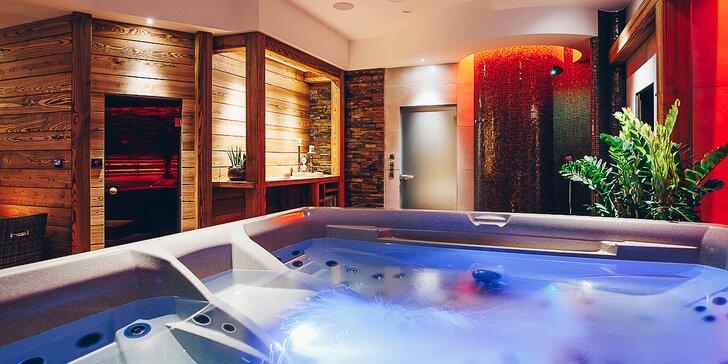 Relax v ráji: privátní wellness s vířivkou, párou, saunou a vínem až pro 4 osoby