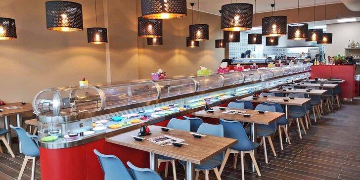 Snězte, co se do vás vejde: 2 hodiny neomezeného hodování running sushi