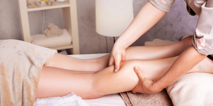 Manuální lymfatická masáž dolních končetin v délce 60 minut