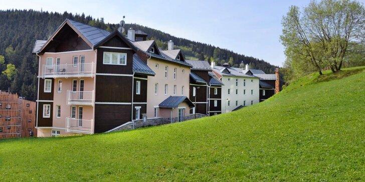 V zimě na lyže, v létě na túru: pobyt v prostorném Apartmánu pod horizontem v centru Pece pod Sněžkou