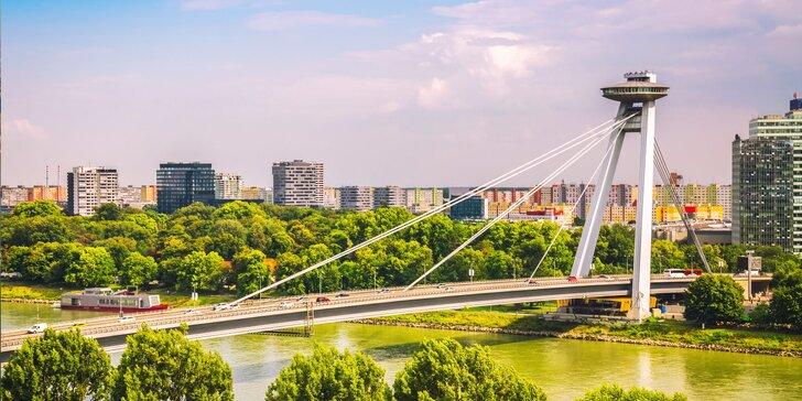 Bratislavská vyhlídková věž UFO: vyhlídka z 95 metrů a drink, dort nebo prosecco v baru
