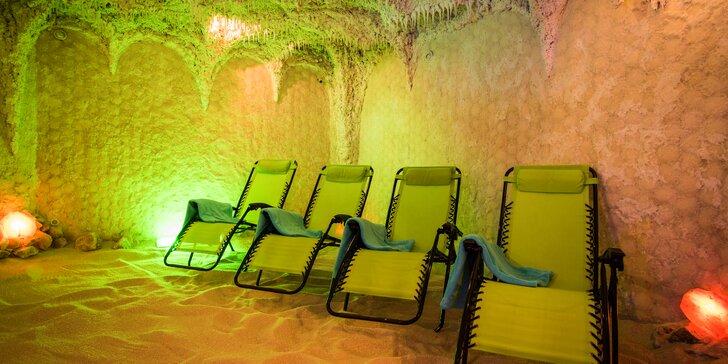 Relaxace v solné jeskyni s možností léčebných procedur