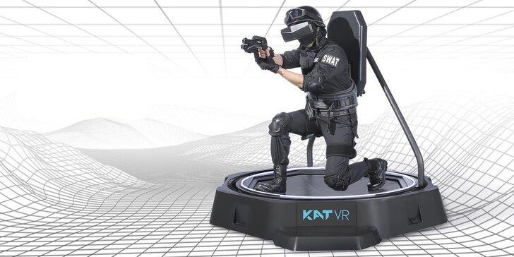 30 min. hraní ve virtuální realitě s pohybovou platformou KAT VR Walk