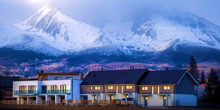 Zimní či jarní dovolená až pro 4 osoby pod Tatrami s wellness