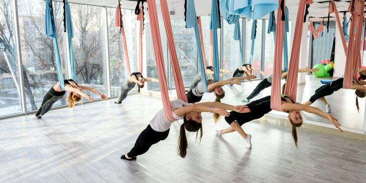 Jóga a fitness v závěsných vacích: 1, 3, 5 nebo 10 hodin Levi Yogy