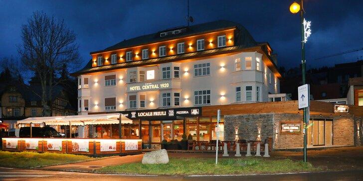 Rodinný pobyt v centru Špindlerova Mlýna: nově otevřený historický hotel a all inclusive