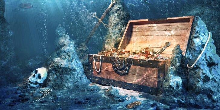 Poklad na Stříbrné mělčině: únikovka v potápěčské jámě pro 1 nebo 2 osoby