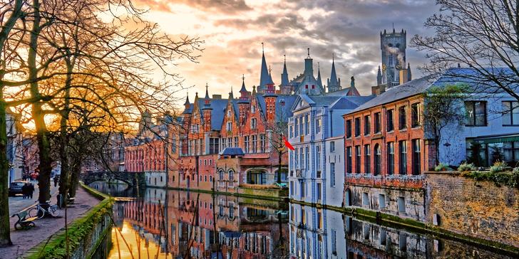 Romantický valentýnský výlet: Bruggy s autobusovou dopravou i průvodcem