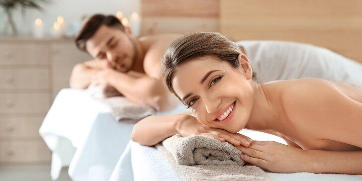 90 minut nejlepšího odpočinku pro pár: masáž, lázeň a sekt