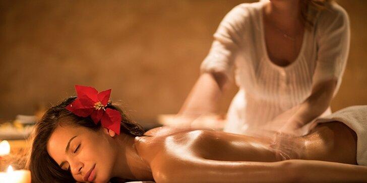 Až 120 minut v nebi: uvolněte se během relaxační, medové, klasické i aroma masáže