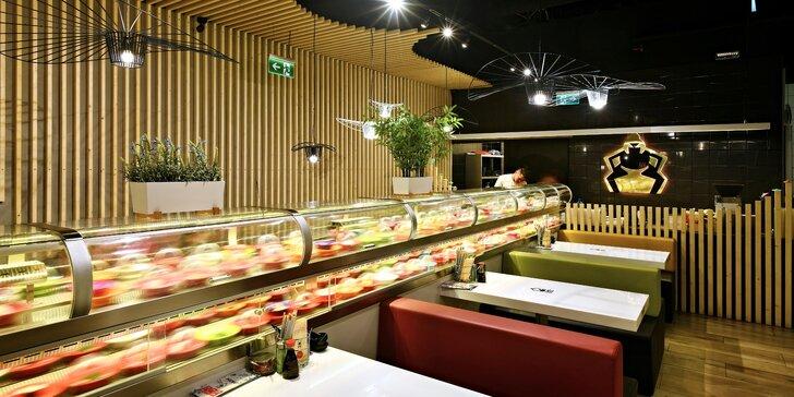 Running sushi v OC Šestka: až 2 hodiny neomezené konzumace v Sumo Sushi & Grill Restaurant