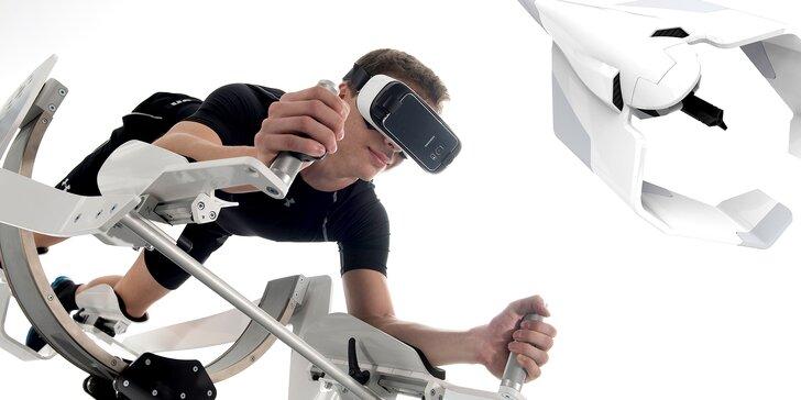 Simulátor létání a plavání ICAROS: balanční plošina pro virtuální realitu