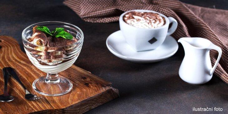 Sladká pauza v Podzámčí Blatná: tiramisu a horký nápoj dle výběru