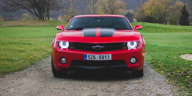 Pronájem Chevroletu Camaro na 12 nebo 24 hodin s neomezeným nájezdem km