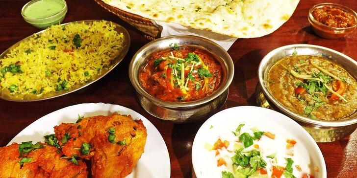 Otevřené vouchery do indické restaurace Sada Punjab: 500 nebo 1000 Kč