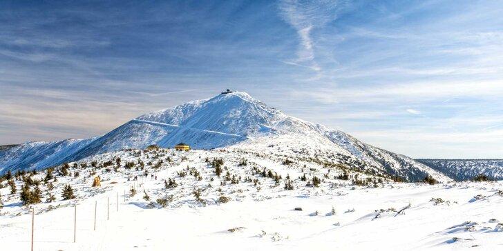 Zimní turistika v Krkonoších: ubytování se stravou v horské chalupě